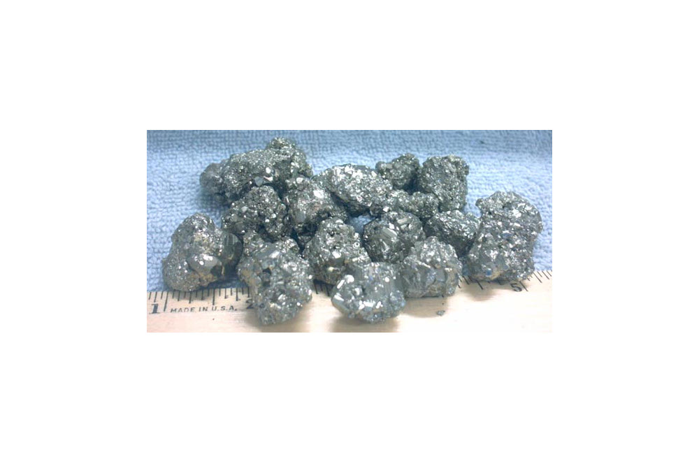 Bag of 20 pyrite nuggets